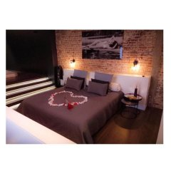 Отель Chambre Avec Jacuzzi Sauna Privatif Брюссель комната для гостей фото 3