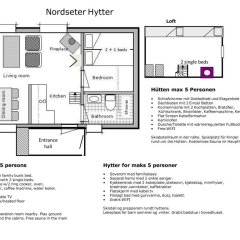 Отель Lillehammer Fjellstue 3* Коттедж с различными типами кроватей