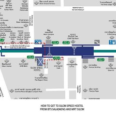 Silom Space Hostel Бангкок городской автобус