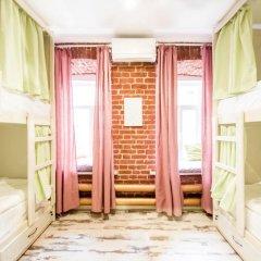 Волхонка хостел Кровать в общем номере с двухъярусными кроватями фото 2