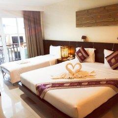 Pimrada Hotel 3* Стандартный семейный номер разные типы кроватей фото 3