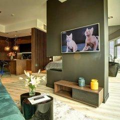 Отель Apartamenty Sky Tower Улучшенные апартаменты с различными типами кроватей фото 4