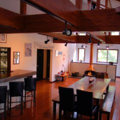 Отель Bears Den Mountain Lodge Хакуба гостиничный бар