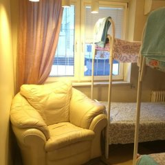 Hostel na Preobrazhenke Tut Zhivut Кровать в общем номере с двухъярусной кроватью фото 6