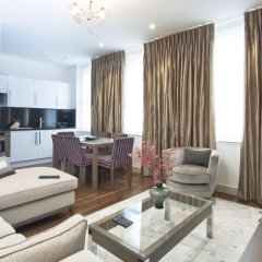Апартаменты Claverley Court Apartments Лондон комната для гостей фото 5