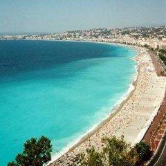 Hotel Azur Riviera Nice пляж