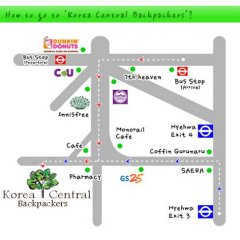 Отель Korea Central Backpackers Южная Корея, Сеул - отзывы, цены и фото номеров - забронировать отель Korea Central Backpackers онлайн городской автобус