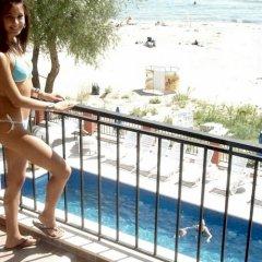 Отель Carina Beach Aparthotel - Free Private Beach Солнечный берег балкон