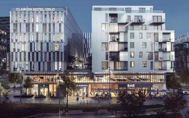 Clarion Hotel Oslo вид на фасад