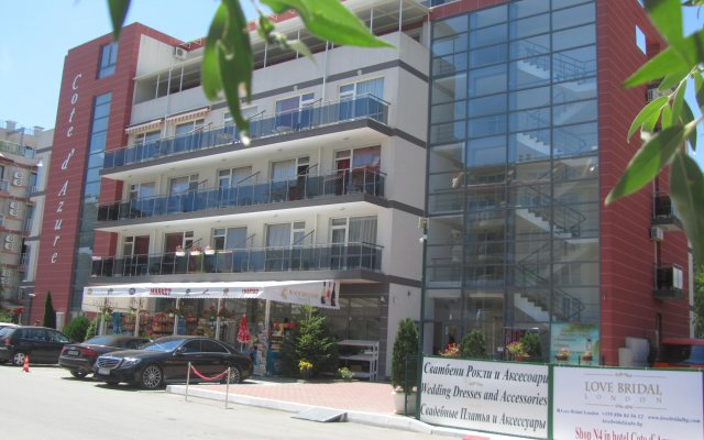 Отель Aparthotel Cote D'Azure вид на фасад
