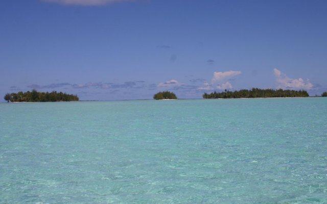 Отель Bora Bora Eco Lodge Mai Moana Island Французская Полинезия, Бора-Бора - отзывы, цены и фото номеров - забронировать отель Bora Bora Eco Lodge Mai Moana Island онлайн пляж