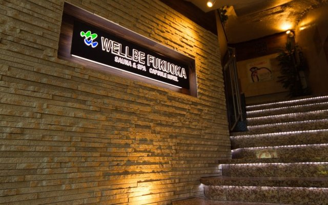 Отель Executive Spa & Capsule WELLBE Fukuoka - Caters to Men Хаката вид на фасад