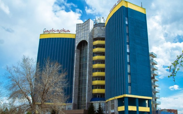Отель Sary Arka Павлодар вид на фасад