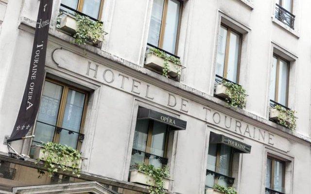 Отель Touraine Opera Париж вид на фасад