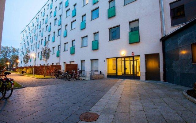 Отель Apartdirect Hammarby Sjostad Стокгольм вид на фасад