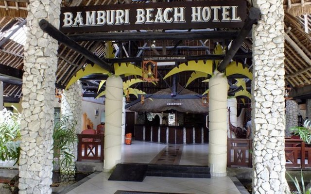 Отель Bamburi Beach Бамбури вид на фасад