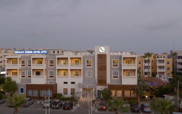 Отель Kefalos Damon Hotel Apartments Кипр, Пафос - отзывы, цены и фото номеров - забронировать отель Kefalos Damon Hotel Apartments онлайн вид на фасад