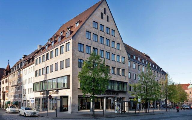 Отель Sorat Hotel Saxx Nürnberg Германия, Нюрнберг - отзывы, цены и фото номеров - забронировать отель Sorat Hotel Saxx Nürnberg онлайн вид на фасад