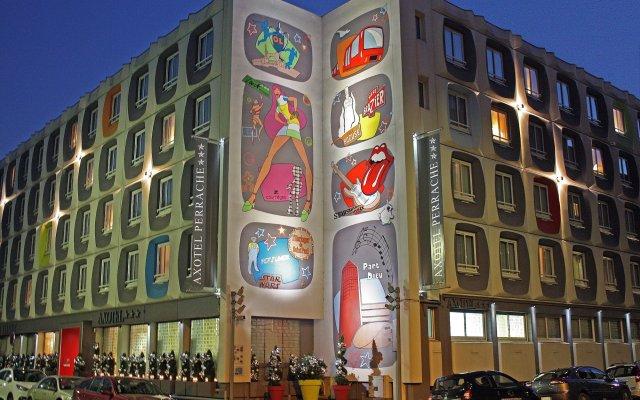 Отель Hôtel Axotel Lyon Perrache Франция, Лион - 3 отзыва об отеле, цены и фото номеров - забронировать отель Hôtel Axotel Lyon Perrache онлайн вид на фасад