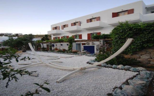 Hotel Psarou Beach вид на фасад
