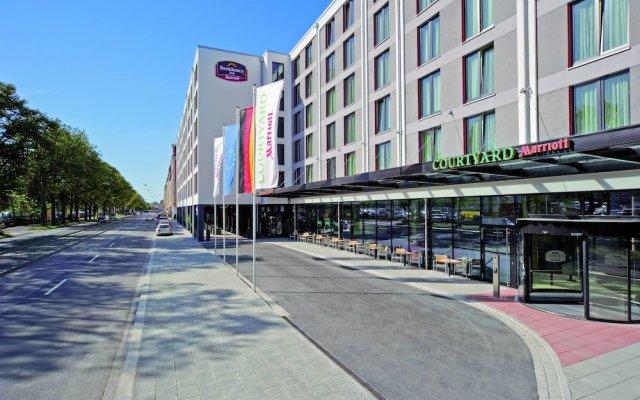 Отель Residence Inn By Marriott City East Мюнхен вид на фасад