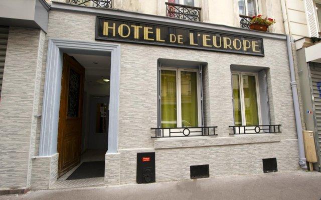 Hotel de l'Europe Belleville вид на фасад