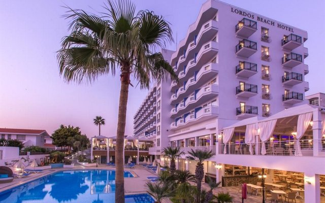 Отель Lordos Beach Кипр, Ларнака - 6 отзывов об отеле, цены и фото номеров - забронировать отель Lordos Beach онлайн вид на фасад