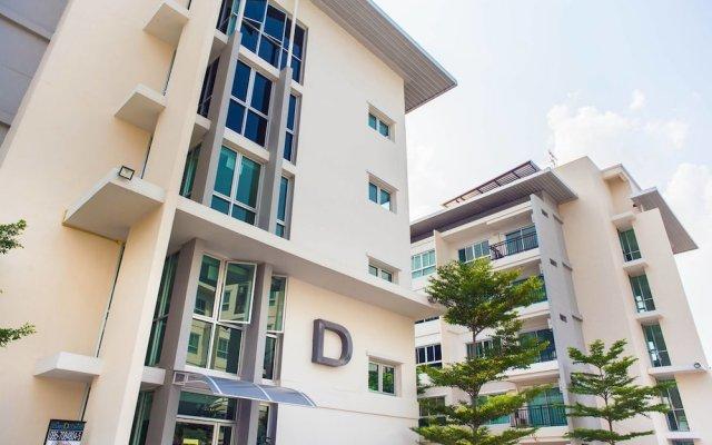 Отель The Cube Residence Government Complex Laksi Бангкок вид на фасад