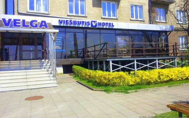 Отель Velga Вильнюс вид на фасад