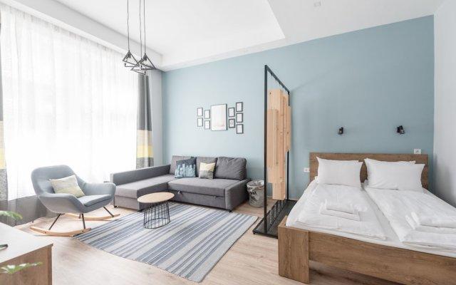 Апартаменты Oasis Apartments - Market Hall I Будапешт комната для гостей