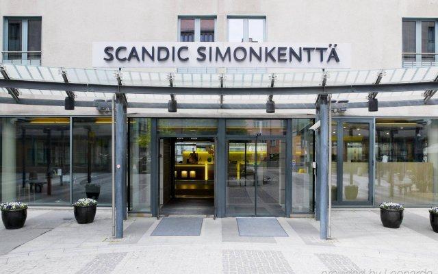 Отель Scandic Simonkenttä вид на фасад