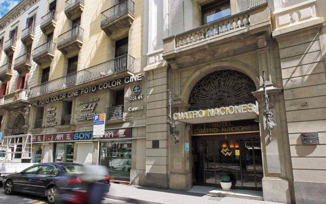 Отель Cuatro Naciones Испания, Барселона - отзывы, цены и фото номеров - забронировать отель Cuatro Naciones онлайн вид на фасад
