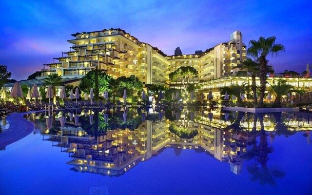 Bellis Deluxe Hotel Турция, Белек - 10 отзывов об отеле, цены и фото номеров - забронировать отель Bellis Deluxe Hotel онлайн вид на фасад