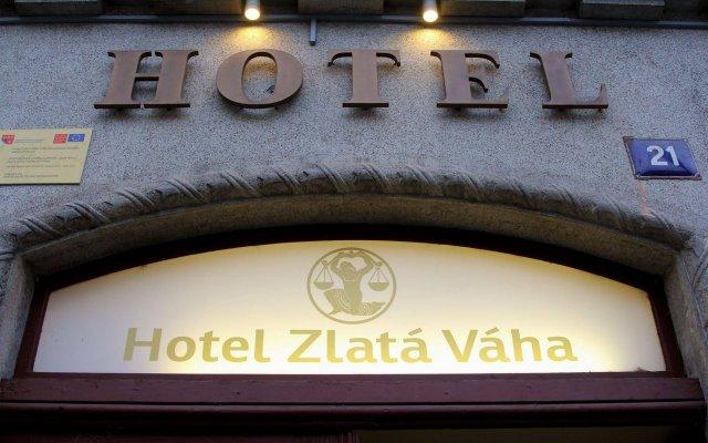 Hotel Zlatá Váha вид на фасад