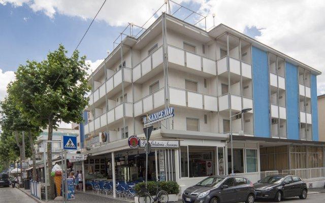 Hotel Sanremo Rimini вид на фасад