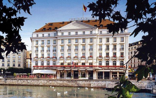 Отель Four Seasons Hotel Geneva Швейцария, Женева - отзывы, цены и фото номеров - забронировать отель Four Seasons Hotel Geneva онлайн вид на фасад