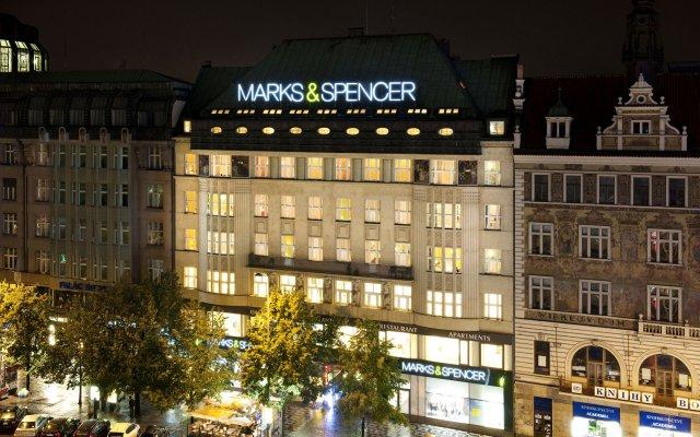 Отель New Town - Apple Apartments Чехия, Прага - 1 отзыв об отеле, цены и фото номеров - забронировать отель New Town - Apple Apartments онлайн вид на фасад