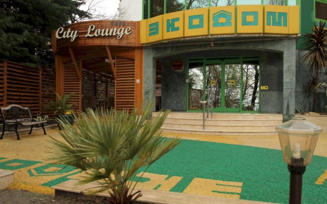 Гостиница Экодом Сочи вид на фасад
