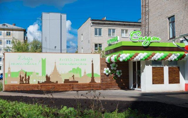 Гостиница Силуэт Ижевск вид на фасад