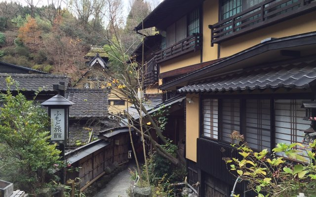 Отель Ryokan Fujimoto Минамиогуни вид на фасад