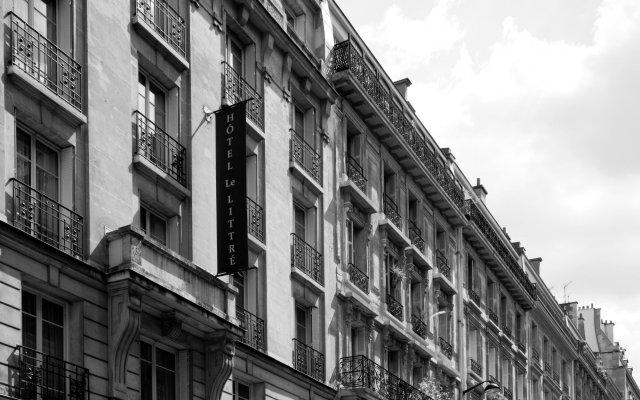 Отель Le Littre Франция, Париж - отзывы, цены и фото номеров - забронировать отель Le Littre онлайн вид на фасад