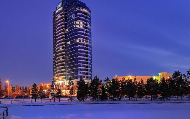 Гостиница Марриотт Астана Казахстан, Нур-Султан - отзывы, цены и фото номеров - забронировать гостиницу Марриотт Астана онлайн вид на фасад
