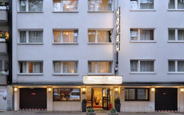 Bellevue Hotel Дюссельдорф вид на фасад