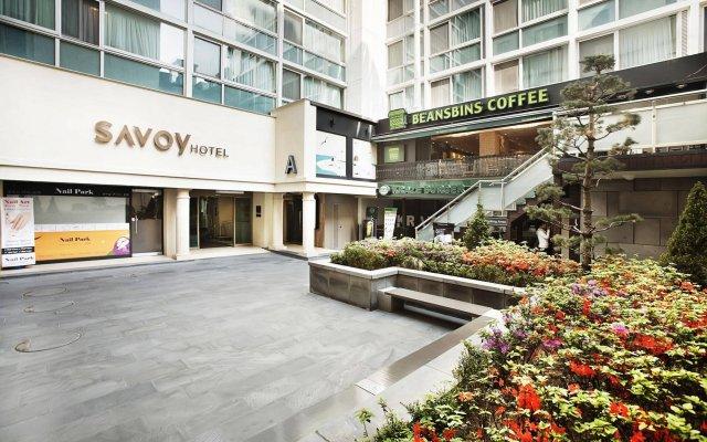 Отель Savoy Hotel Южная Корея, Сеул - отзывы, цены и фото номеров - забронировать отель Savoy Hotel онлайн вид на фасад