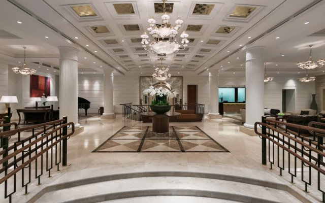 Отель Grand Hotel Kempinski Вильнюс Литва, Вильнюс - отзывы, цены и фото номеров - забронировать отель Grand Hotel Kempinski Вильнюс онлайн интерьер отеля