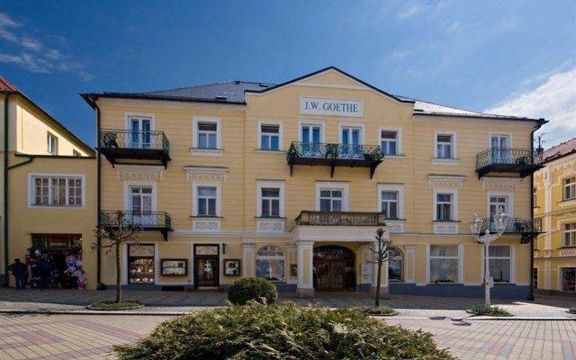 Отель Spa Hotel Goethe Чехия, Франтишкови-Лазне - отзывы, цены и фото номеров - забронировать отель Spa Hotel Goethe онлайн вид на фасад