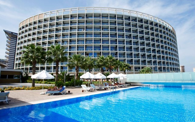 Kervansaray Kundu Beach Hotel Турция, Кунду - 5 отзывов об отеле, цены и фото номеров - забронировать отель Kervansaray Kundu Beach Hotel онлайн вид на фасад