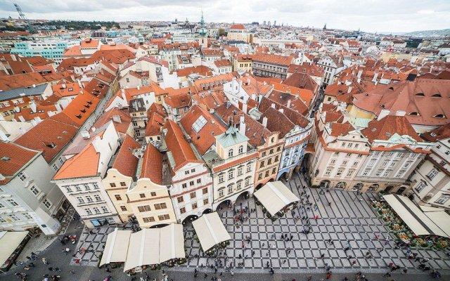 Отель Ambassador Zlata Husa Прага вид на фасад