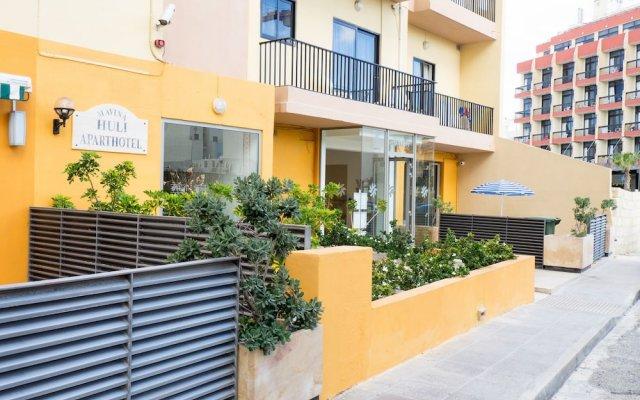 Отель Huli Hotel and Apartments Мальта, Каура - 2 отзыва об отеле, цены и фото номеров - забронировать отель Huli Hotel and Apartments онлайн вид на фасад