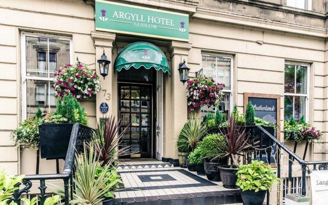 Argyll Hotel Глазго вид на фасад